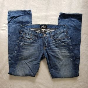 Lucky Brand Dungarees distressed Riley Jeans!